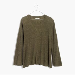 NWT Madewell Northroad Pullover Sweater green